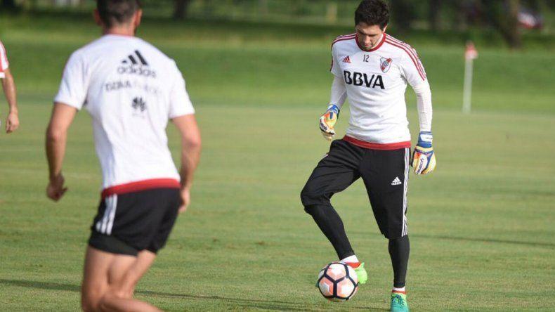 Germán Lux podría ser el martes el arquero titular de River que recibirá a Guaraní de Paraguay.