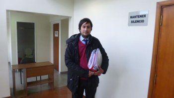 El funcionario fiscal Ezequiel Castro Albornoz participó de la audiencia en representación del Ministerio Público.