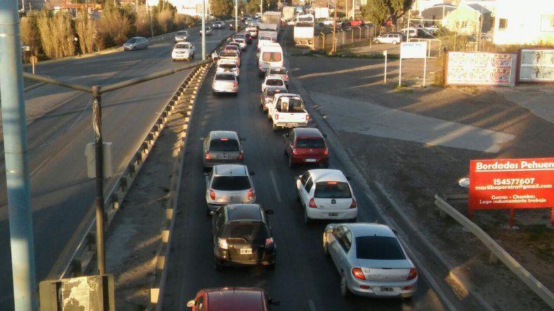 Congestión en el tránsito por un accidente en Ruta 3