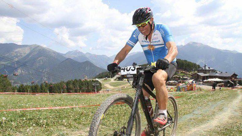 Larrauri durante una competencia en el Mundial de Andorra.