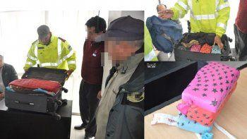 Viajaba en micro con más de 3 kilos de droga oculta en piñatas