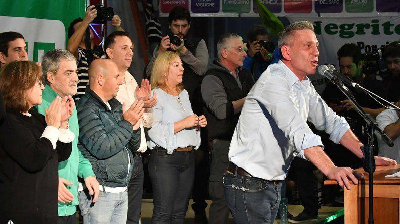 El acto de cierre de Chubut Para Todos se realizó en el club Huracán.