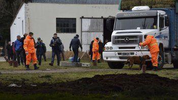 El allanamiento que se realizó ayer en las instalaciones de Gendarmería Nacional en Esquel.