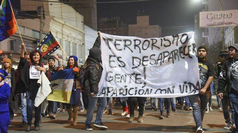 Más de 300 personas pidieron por la aparición con vida de Santiago Maldonado