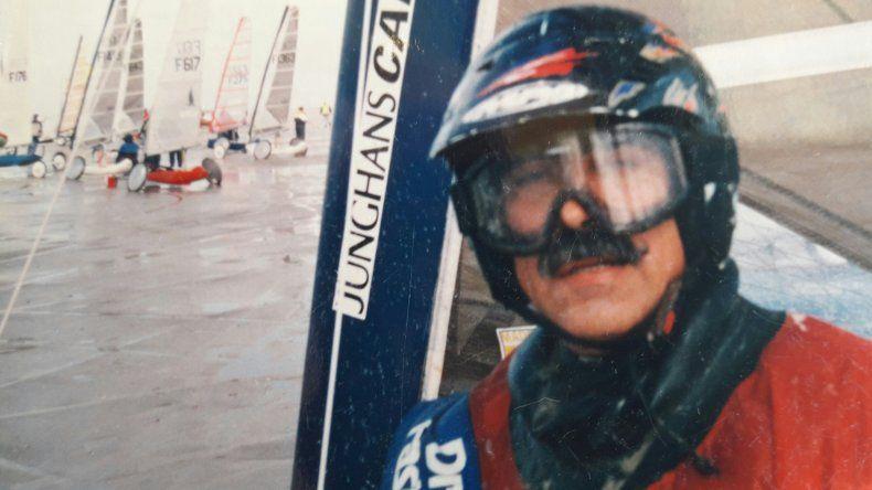 Antes de correr una de las regatas en el Mundial de Alemania 1994.