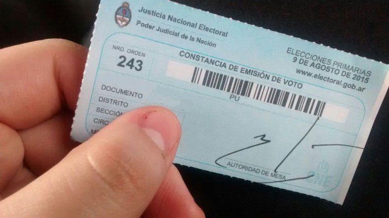 ¿Para qué sirve la constancia de voto?