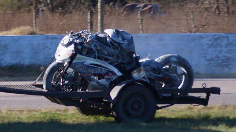 Así quedó la moto del piloto comodorense Fede Zapata en el autódromo de Río Cuarto