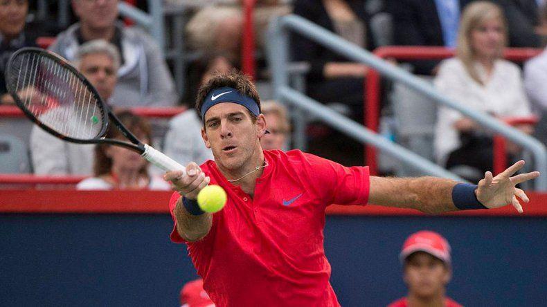 Juan Martín Del Potro espera debutar con un triunfo en el ATP de Cincinnati.