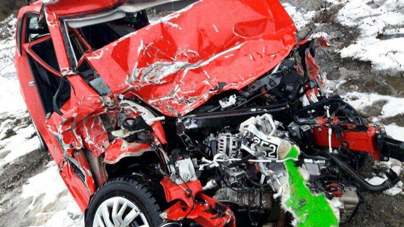 Así quedó el auto de Mauro Giallombardo tras el accidente que protagonizó camino a Villa La Angostura.