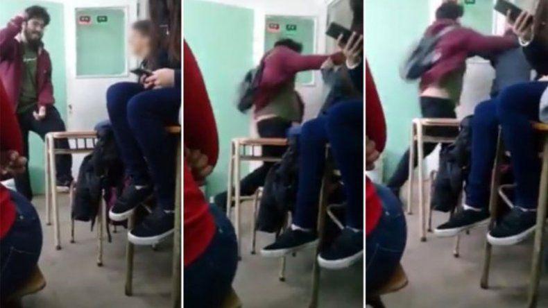 Un joven golpeó a un alumno en medio de una discusión política