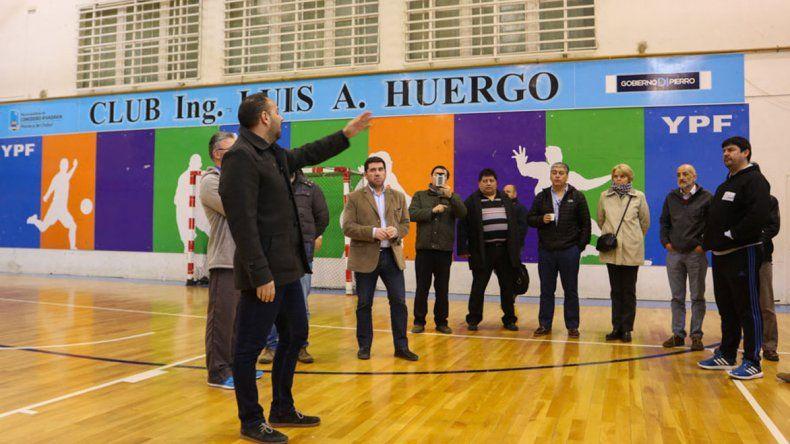 Los dirigentes argentinos y chilenos visitaron el complejo Huergo en Kilómetro 3
