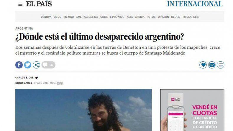 Recorre el mundo el pedido de la aparición con vida de Santiago Maldonado