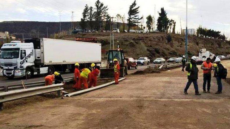 Reducirán la calzada en Ruta 3 entre Foyel y Pueyrredón