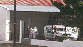 El allanamiento que se desarrolló ayer en el escuadrón de José de San Martín en busca de indicios sobre Santiago Maldonado.