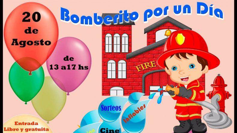 Bomberos invitan festejar el Día del Niño este domingo