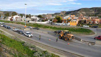 En el inicio de los trabajos sobre la ruta Nacional 3 ayer hubo algunas demoras en el tránsito.
