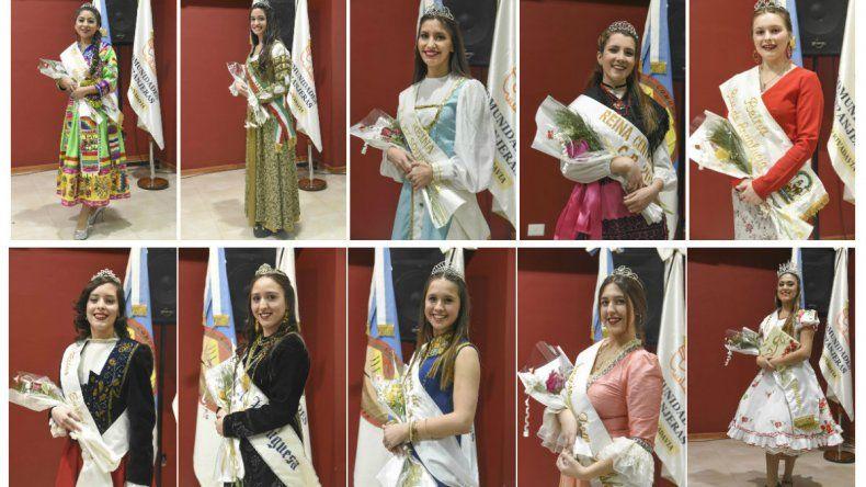 Diez candidatas sueñan coronarse reina de las Comunidades Extranjeras