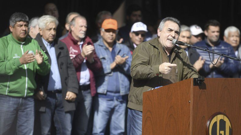 Juan Carlos Schmid fue el principal orador del acto impulado ayer por la CGT