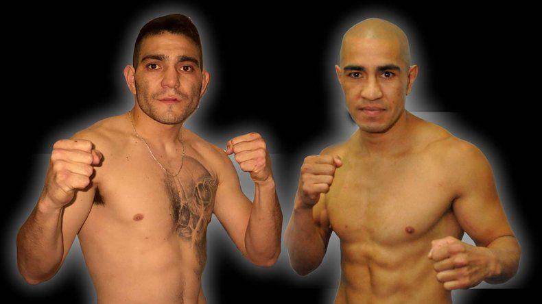 Héctor Saldivia -derecha- y Ricardo Villalba ya están listos para subirse el sábado al ring.