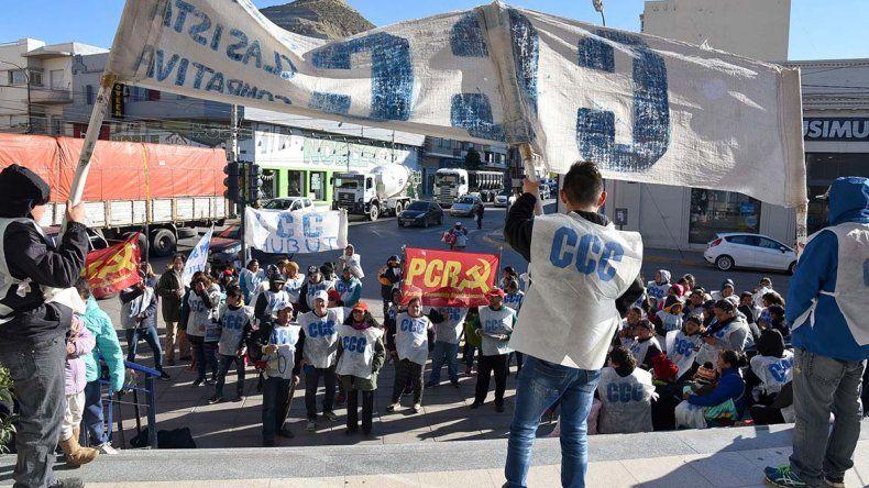 La CCC y el PTP reclamaron por el cambio de políticas nacionales y la aparición de Santiago Maldonado.