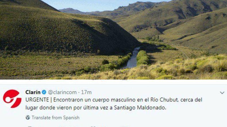 Desmienten la aparición de un cuerpo en el Río Chubut