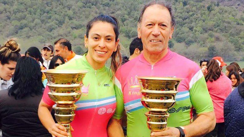 Daniel Larrauri y su hija Marcia culminaron terceros en su categoría.