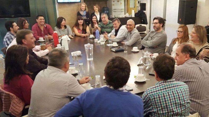 La reunión que se realizó ayer en la sede del Sindicato de Luz y Fuerza