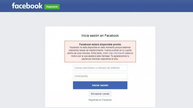 Facebook tuvo fallas y enfureció a miles de usuarios