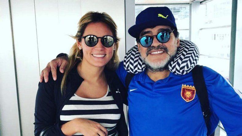 Las fotos de la reconciliación y convivencia de Diego Maradona y Rocío Oliva, en Dubai