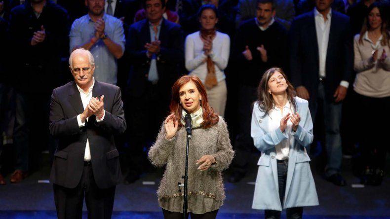Cristina encabezó ayer un acto en La Plata luego de confirmarse que fue la candidata más votada de las PASO en la provincia de Buenos Aires.
