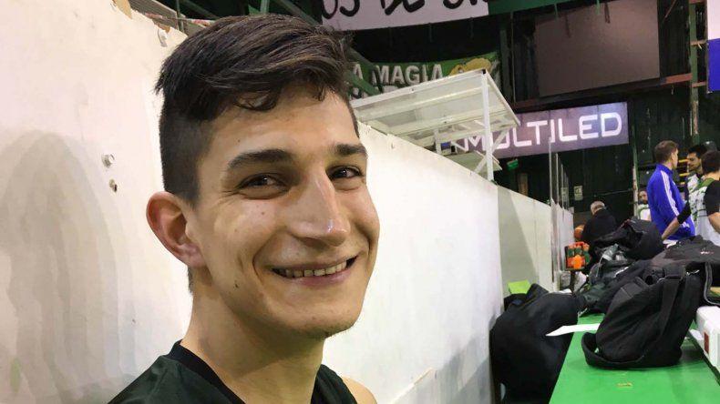 El alero chaqueño Franco Giorgetti ya se siente muy a gusto en Gimnasia y Esgrima.