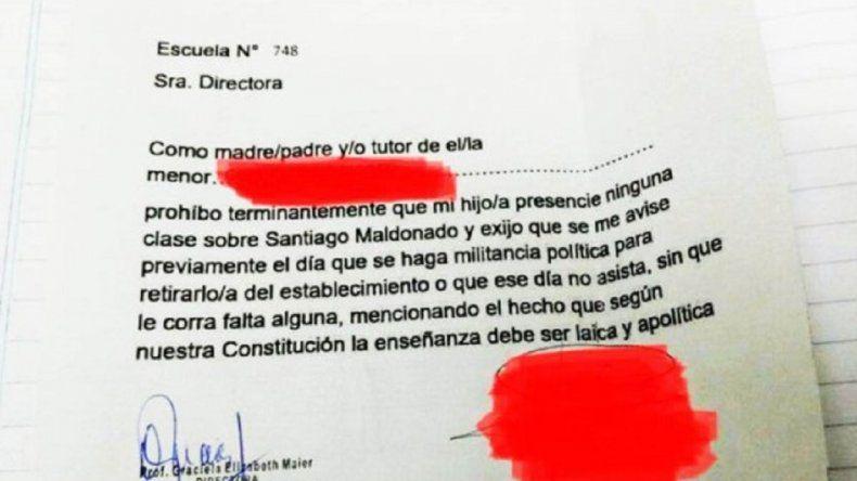 Un padre prohibió a la escuela que hablen de Maldonado frente a su hijo