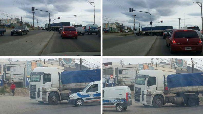 Imprudencia al volante: camión giró en U en plena Ruta 3