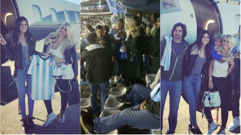 El paso de Wanda por Uruguay: escándalo en la cancha y chicanas a Zaira