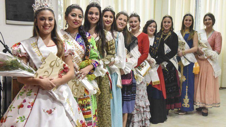 Entre diez candidatas se elegirá hoy a la nueva reina de la Federación de Comunidades Extranjeras de Comodoro Rivadavia.