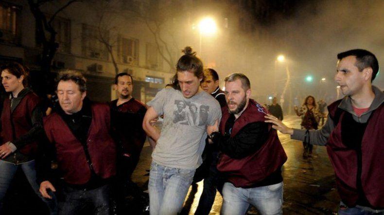 Los detenidos tras la marcha por Santiago Maldonado