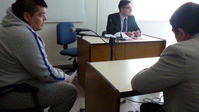 Mariano Cárdenas durante la audiencia en la que se le revocó la prisión domiciliaria.