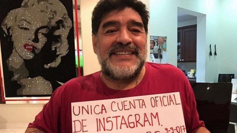 Maradona  abrió una cuenta de Instagram y la hizo explotar