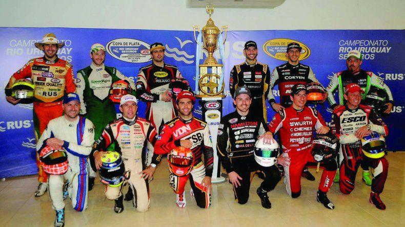 Los doce pilotos del TC que lucharán por la Copa de Oro de la temporada 2017.