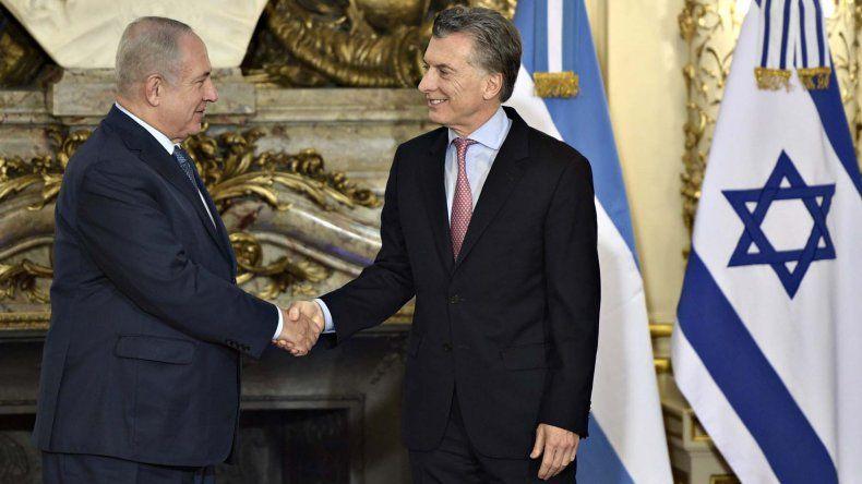 Macri y Netanyahu también acordaron profundizar los vínculos comerciales entre ambos países.