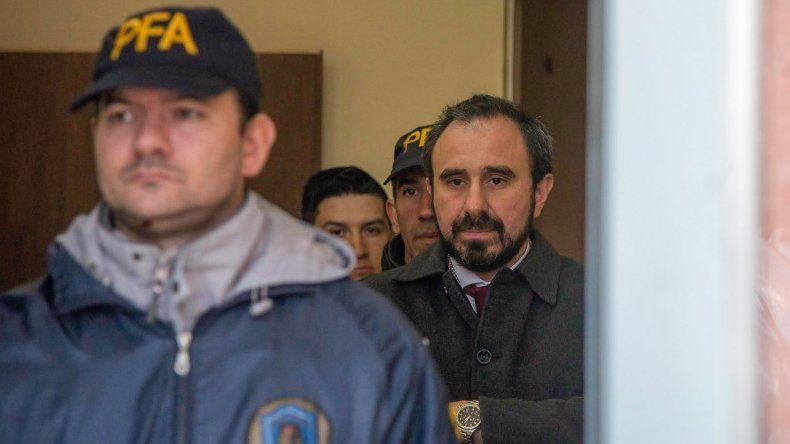 Guido Otranto al retirarse ayer del Juzgado Federal de Esquel.