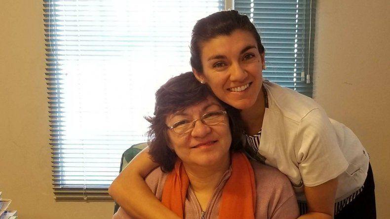 Con su mamá Gladys