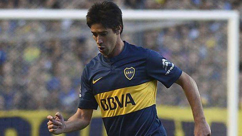 Pablo Pérez ocupará esta tarde un lugar en el mediocampo de Boca Juniors.