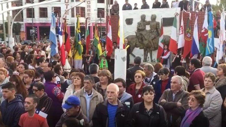 Amplio acompañamiento de la comunidad a la celebración de residentes chilenos