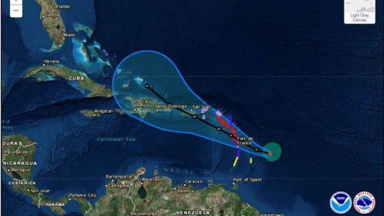 El huracán María amenaza con repetir los daños de Irma