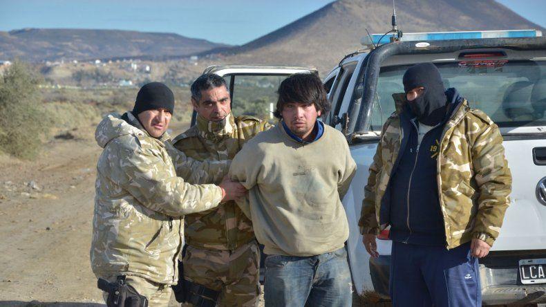 Pablo Barrientos cuando permaneció prófugo por la causa vinculada con el crimen del policía Nelson Godoy.