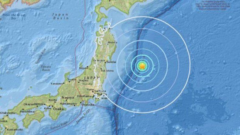 Un fuerte terremoto sacudió la costa este de Japón, cerca de Fukushima