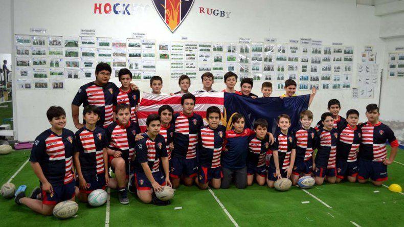 Delegación de los chicos que vivirán una gran experiencia en Capital Federal.