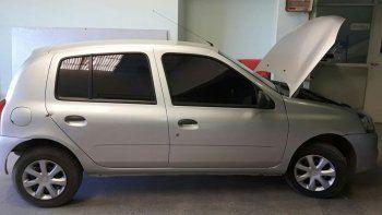 El Clio mellizo fue secuestrado en Comodoro Rivadavia.