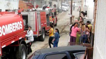 cinco viviendas de un inquilinato fueron alcanzadas por el fuego